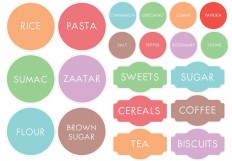 Custom Printable Kitchen Pantry Labels - Essmak