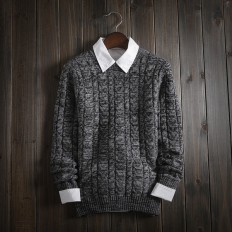 Casual Vintage Men's Comfortable Solid Cable Knitted Sweater – Shop with Hearts