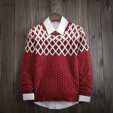 Casual Vintage Men's Comfortable Geometric Knitted Sweater – Shop with Hearts