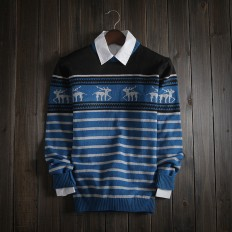 Casual Vintage Men's Comfortable Christmas Deer Knitted Sweater – Shop with Hearts