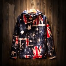 Vintage Men's UK Flag Hip Hop Jackets with Hood – Shop with Hearts