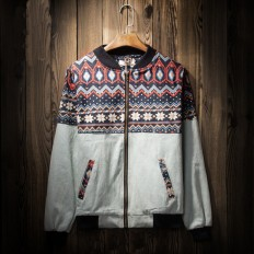 Men's Ethnic Aztec Geometric Lightweight Jackets with Hood – Shop with Hearts