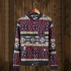 Vintage Floral Print Men's Lightweight Baseball Jacket – Shop with Hearts