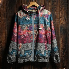 Men's Comfortable Lightweight Floral Hooded Jacket – Shop with Hearts