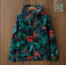 Vintage Men's Leaf Print Lightweight Hooded Jacket – Shop with Hearts