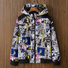Vintage Men's Cartoon Hip Hop Lightweight Hooded Jacket – Shop with Hearts