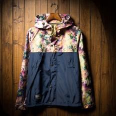 Vintage Floral Print Men's Lightweight Hooded Jacket – Shop with Hearts