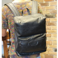 Vintage Men's Black Laptop Bag Leather Backpack Travel Bag – Shop with Hearts