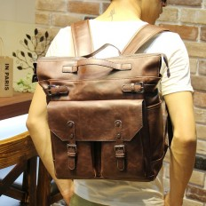 Vintage Men's 14 Inch Laptop Bag Leather Backpack Travel – Shop with Hearts