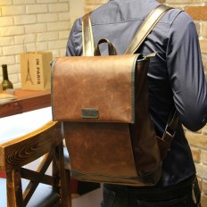 Vintage Men's Casual Laptop Bag Leather Backpack Travel – Shop with Hearts