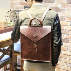 Men's Envelpp Leather Backpack Travel Bag – Shop with Hearts