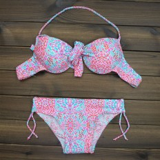 Sexy Women's Halter Printed Push up Bikini Swimsuits Two Pieces – Shop with Hearts