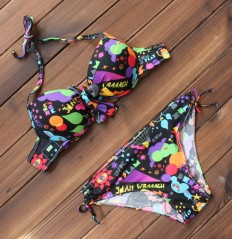 Sexy Women's Cartoon Printed Push up Bikini Swimsuits Two Pieces – Shop with Hearts