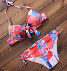 Sexy Women's Floral Printed Push up Bikini Swimsuits Two Pieces – Shop with Hearts