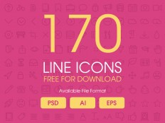 170 Line icons psd,ai,eps | Free PSDs & Sketch App Resources for Designers - uipixels