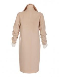 Kurzer Damen Wollmantel im Schurwoll-Mix mit Angora in der Farbe camel / wollweiß - elfenbein - weiß, hellbraun - im MADELEINE Mode Onlineshop