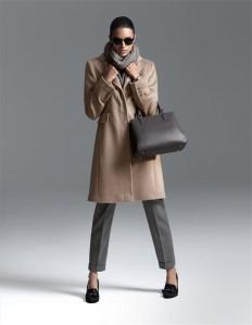 Kurzer Damen Schurwollmantel mit Angora und Kaschmir in den Farben helltaupe, schwarz - taupe - im MADELEINE Mode Onlineshop