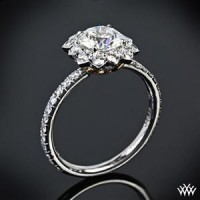 """Lotus Halo"" Diamond Engagement Ring 