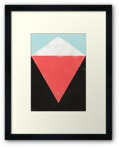 """""""HERE"""" Framed Prints by metron 