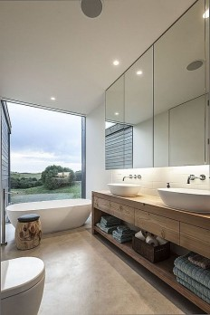 Wood, Concrete, Contemporary, Modern, Free Standing, European, Double, Vessel, Master | Master Bath Redo | Pinterest