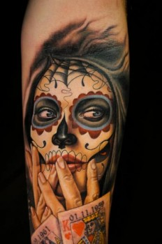 tattoo-arm-mexican-skull.jpg (JPEG-Grafik, 398 × 600 Pixel)