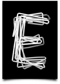 Creative three-dimensional scanning alphabet poster design on Inspirationde