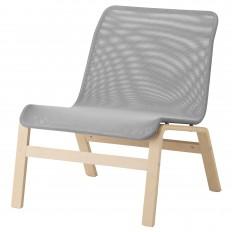 NOLMYRA Sessel - Birkenfurnier/grau - IKEA