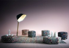 Geometric Pattern Rugs and Poufs by Golran - InteriorZine