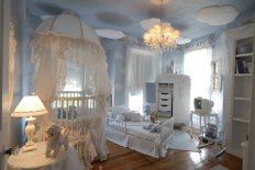 Bedroom: Decorating Girls Room On A Budget With Beautiful Accessories, Girls Room Beaded Curtains, Girls Room Black Chandelier ~ Decoise.com