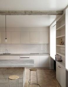 white//modern//concrete counters | Decoracion | Pinterest | Kuchnie