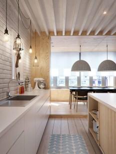 Esprit loft pour un appartement par INT2 architecture | Step Up i Kuchnie