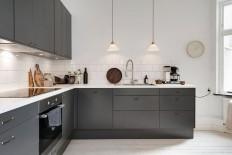 Dark grey kitchen | Szary i Kuchnie