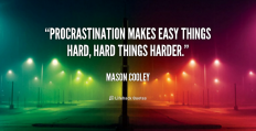 Famous Procrastination Quotations of all time