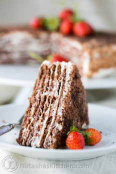 Chocolate Spartak Cake, Chocolate Napoleon Cake, Chocolate Cake Recipe