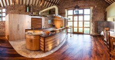 Kitchen: Consider About Detail Of Kitchen Floor Plan And Island Design, Kitchen Flooring Ideas with Wooden Floor, Kitchen Decorating Ideas with Island ~ LouisasPorch.com