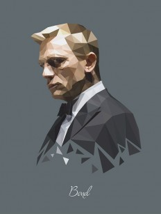James Bond (Daniel Craig) – Polygon Portrait on Inspirationde