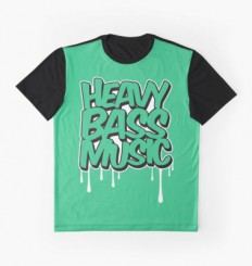 """HEAVY BASS MUSIC / TRAP / DUBSTEP / DNB / TECHNO"" Graphic T-Shirts by badbugs 