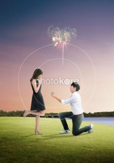 Heterosexual Couple Sky Lifestyles Sunset | Stock Illustration | Photokore