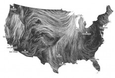 Wind Map, Beautiful Visualization of Wind Flowing Around the US | Beautiful e Mapas