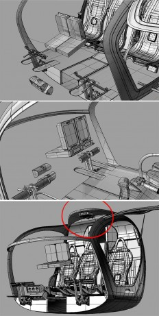 "Create interior of the helicopter ""Scout"""