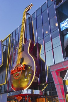 Hard Rock Cafe Entertainment Center Las Vegas Nevada by Gino Rigucci