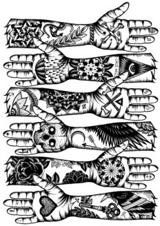 Designersgotoheaven.com - Tattooed hands by Tom... - Designers Go To Heaven.