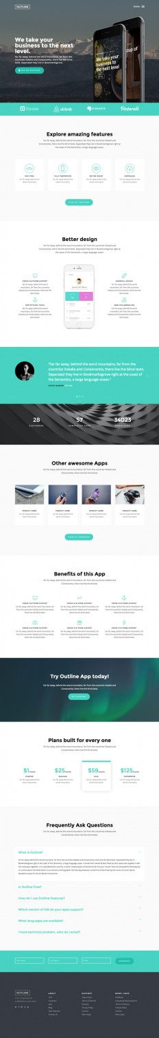 Outline – Free HTML Template | GraphicBurger