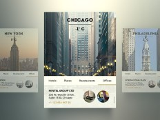 Free PSD city widgets - Freebiesbug