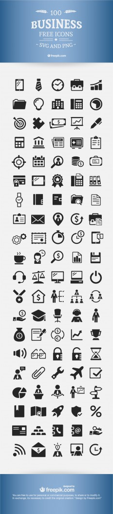 [Download] Free Business Icons - 100% Vectors - eWebDesign