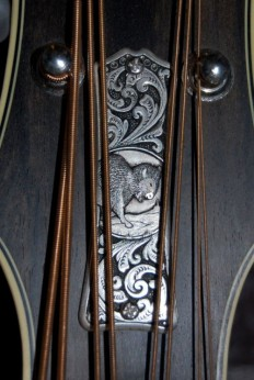 Mandolins Rule The World | Custom mandolin truss rod cover.