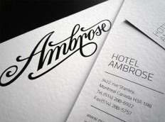 Hotel Ambrose Identity by Miklos Kiss | Inspiration Grid | Design Inspiration