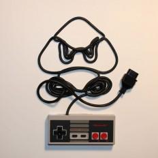 Nintendo Art Created Out Of Controller Cords| Nintendo, Jeux Vidéo et Spectres