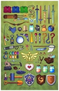 "Zelda Collage (11x17"") from chaoslindsay online| Légendes, Zelda et Zelda"