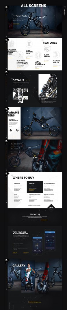 Kuberg – Free Rider website on